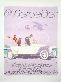 Mercedes - Vintage German advertisement poster